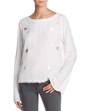 Bella Dahl Silver Stars Tie-Back Top