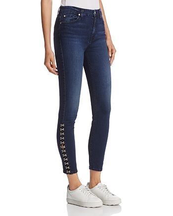 7 For All Mankind - WeWoreWhat X Bloomingdale's The Ankle Embellished Skinny Jeans in B(air) Park Avenue - 100% Exclusive