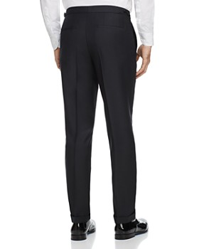HUGO - Textured Solid Slim Fit Tuxedo Pants