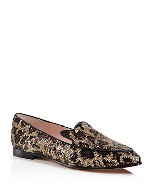 kate spade new york Caty Sequin Leopard Print Loafers