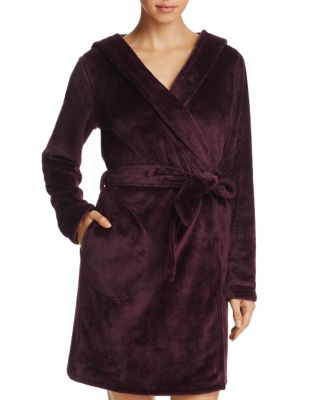 Miranda Double Face Fleece Hooded Robe, Port