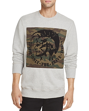 Diesel S-Joe-rb Crewneck Graphic Sweatshirt