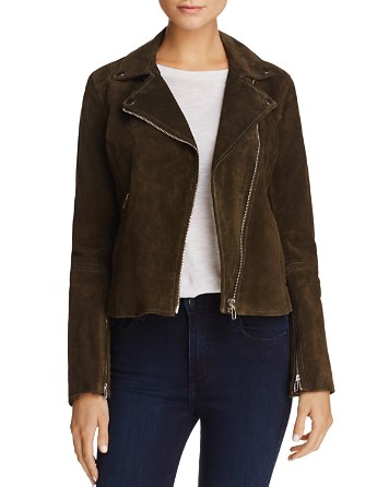 $AQUA Suede Moto Jacket - 100% Exclusive - Bloomingdale's