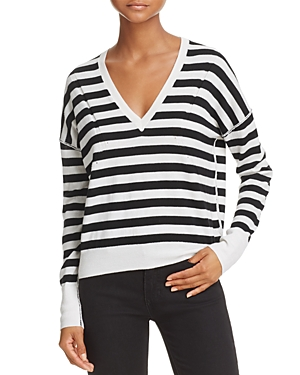 rag & bone/Jean Stripe V-Neck Sweater