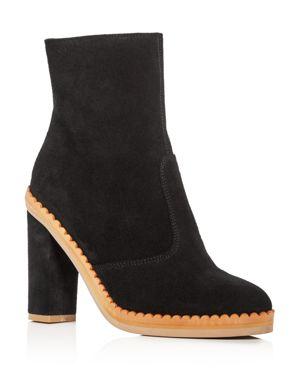 See by Chloe Women's Staysa Suede High Heel Platform Booties