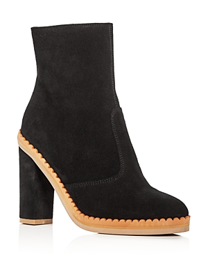 See by Chloe Women's Staysa Suede High Heel Platform Booties