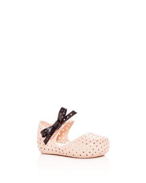 Mini Melissa Girls' Mini Furadinha X Perforated Mary Jane Flats - Walker, Toddler