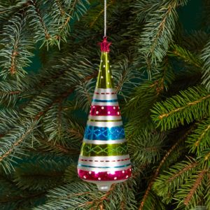 Bloomingdale's Glass Striped Tree Ornament - 100% Exclusive