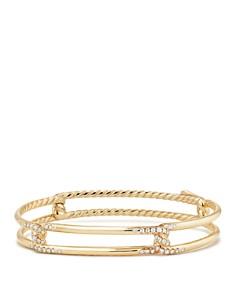 David Yurman - Continuance Bracelet with Diamonds in 18K Gold