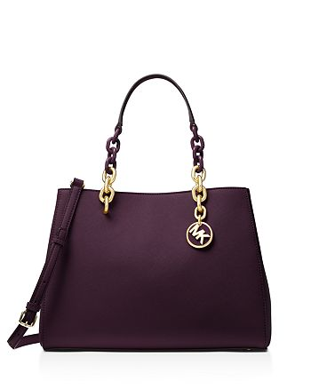 90fa4c0df56a MICHAEL Michael Kors Cynthia Convertible Medium Leather Satchel ...