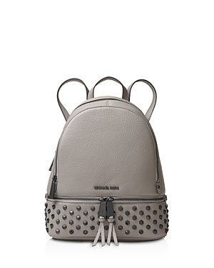 Michael Michael Kors Rhea Faceted Stud Medium Leather Backpack