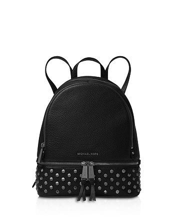 6959a040c15e28 MICHAEL Michael Kors Rhea Faceted Stud Medium Leather Backpack ...