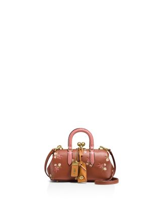 Kisslock Satchel In Glovetanned Leather With Floral Bow Print by Coach 1941