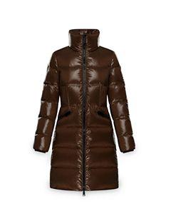 7a44d1d31 Moncler Orophin Leather Shoulder-Inset Down Coat   Bloomingdale's