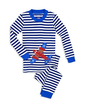 Sara's Prints - Unisex Airplane Pajama Shirt & Pants Set - Little Kid