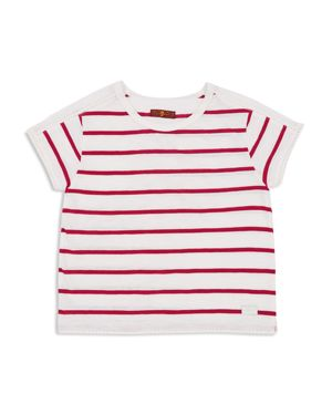 7 For All Mankind Girls' Striped Tee - Big Kid