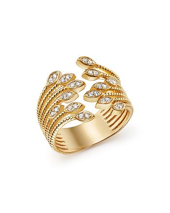 Bloomingdale's - Diamond Multi Row Beaded Band Ring in 14K Yellow Gold, .25 ct. t.w. - 100% Exclusive