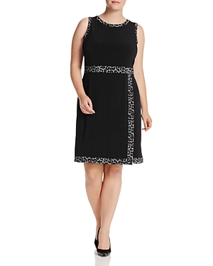 Michael Michael Kors Plus Leopard Border Faux-Wrap Dress