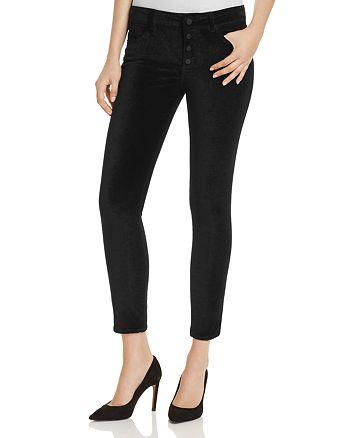 DL1961 - Emma Velvet Power Legging Jeans in Jet Black