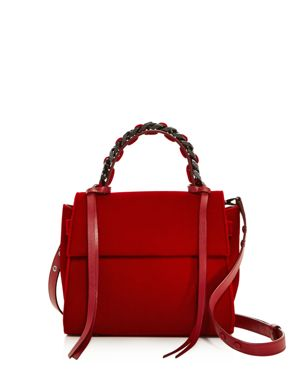Elena Ghisellini Angel Small Velvet Satchel 2692915