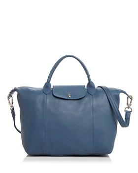 Longchamp - Le Pliage Medium Leather Satchel