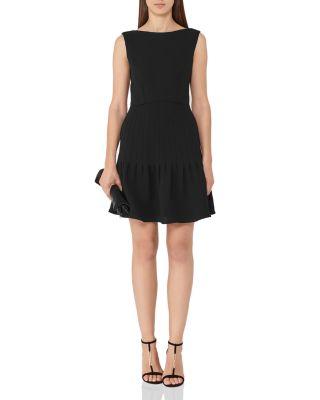 MARISA PIN-TUCKED A-LINE DRESS