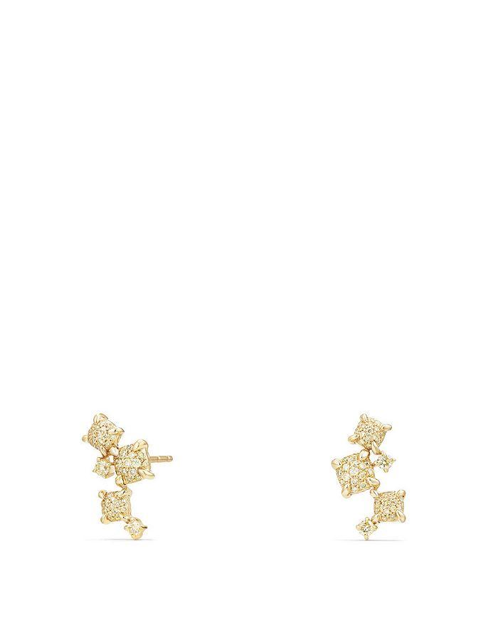 David Yurman - Petite Châtelaine Climber Earrings with Yellow Diamonds in 18K Gold