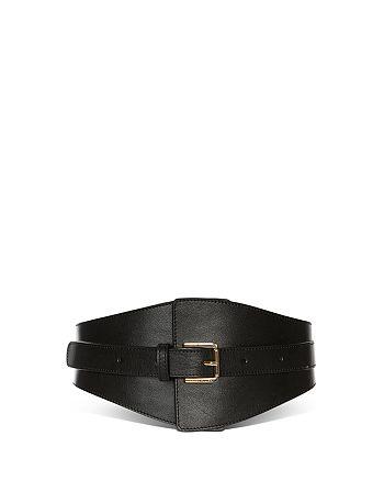 KAREN MILLEN - Wide Leather Waist Belt