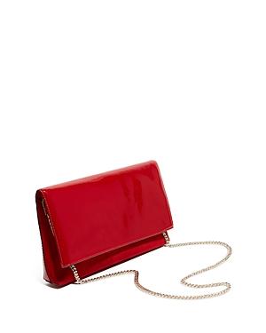 Karen Millen Brompton Patent Leather & Suede Clutch