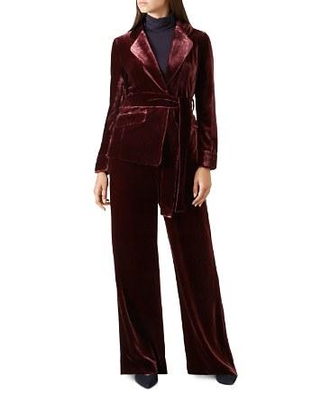 $HOBBS LONDON Lorrie Velvet Jacket - 100% Exclusive - Bloomingdale's