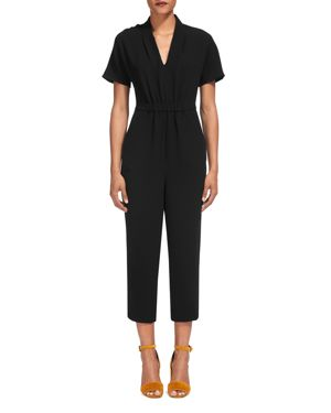 Whistles Mercy V-Neck Cropped Jumpsuit