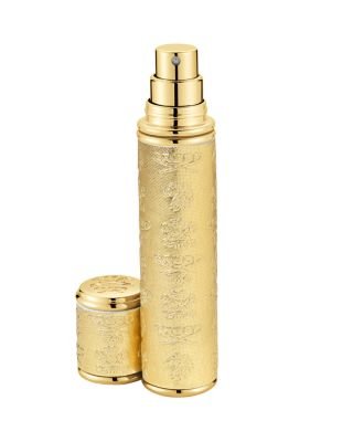 Pocket Leather & Gold Tone Bottle Atomizer by Creed