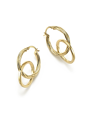 14K Yellow Gold Textured Double Drop Earrings - 100% Exclusive