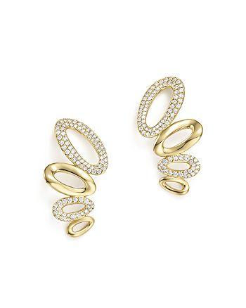 IPPOLITA - 18K Yellow Gold Cherish Diamond Link Ear Climbers