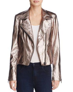 Blanknyc Metallic Faux Leather Moto Jacket - 100% Exclusive