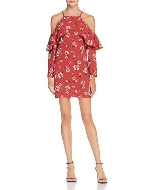 Band of Gypsies Poppy Cold-Shoulder Dress