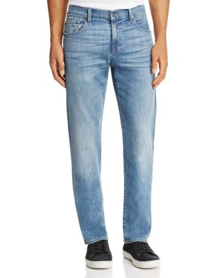 $7 For All Mankind Carsen Homage Straight Fit Jeans in Light Wash - Bloomingdale's