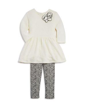 Pippa & Julie Girls' Sweater Dress & Leopard-Print Leggings Set - Little Kid