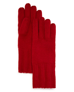C by Bloomingdale's Ribbed Cashmere Glove - 100% Exclusive