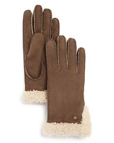 UGG Sheepskin Slim Side Vent Gloves - Bloomingdale's_0