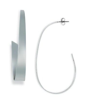 $Argento Vivo Thick Glossy J Hoop Earrings - Bloomingdale's