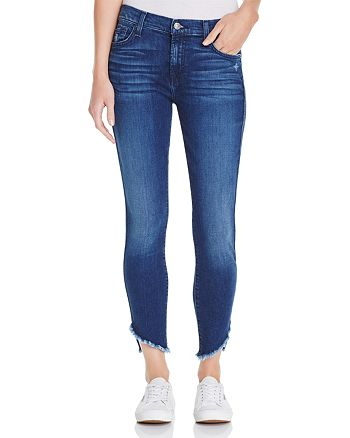 7 For All Mankind - The Ankle Angled-Hem Skinny Jeans in 5th Ave