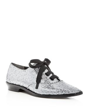 Marc Jacobs Women's Brittany Glitter Lace Up Oxfords