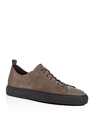 Uri Minkoff Men's Nubuck Leather Suede Lace Up Sneakers