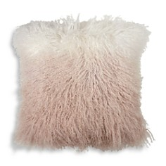 "Michael Aram - Dip Dye Curly Sheepskin Pillow, 18"" x 18"""