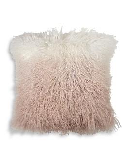 "Michael Aram - Dip Dye Curly Sheepskin Pillow, 18"" x 18"""