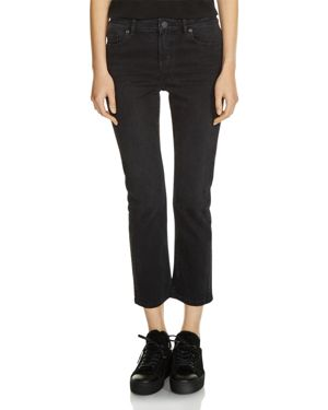Maje Pippa Cropped Jeans in Black