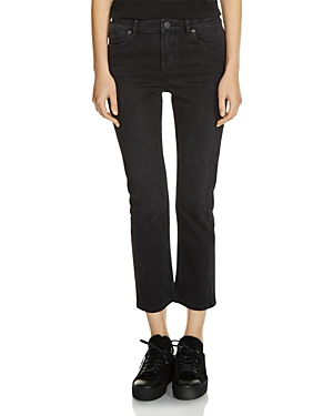 Maje Pippa Cropped Jeans in Black