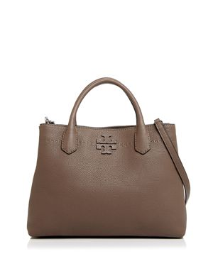 Tory Burch McGraw Triple Compartment Leather Satchel 3028858