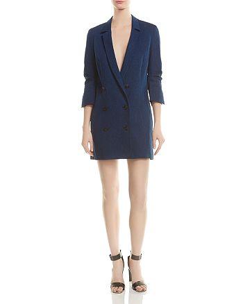 HALSTON HERITAGE - Double-Breasted Twill Jacket Dress